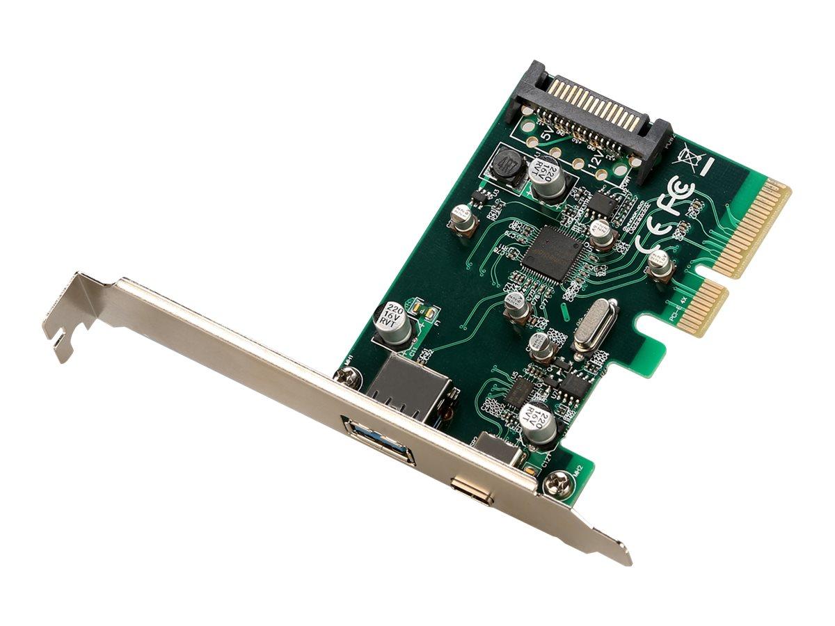 i-Tec - USB-Adapter - PCIe 2.0 x4 Low-Profile - USB-C 3.1 Gen 2 + USB 3.1 Gen 2