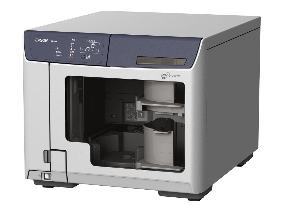 Epson Discproducer PP-50 - Disk-Kopiergerät - Steckplätze: 50 - DVD±R (±R DL) x 1 - USB 2.0 - extern