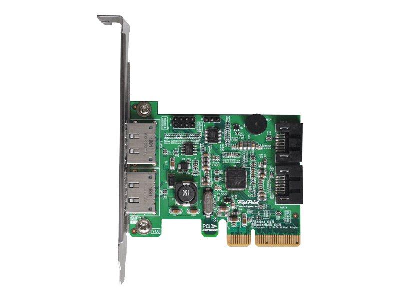 HighPoint Rocket 642L - Speichercontroller (RAID) - 4 Sender/Kanal - SATA 6Gb/s / eSATA 6Gb/s Low-Profile - RAID 0, 1, 5, 10, JB