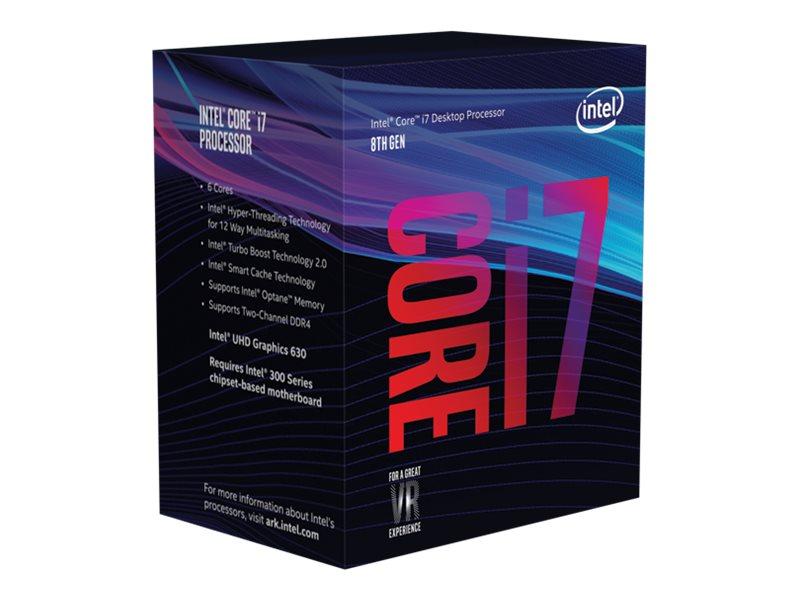 Intel Core i7 8700 - 3.2 GHz - 6 Kerne - 12 Threads - 12 MB Cache-Speicher - LGA1151 Socket