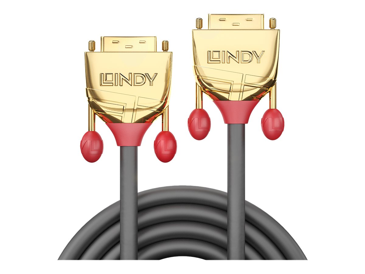 Lindy Gold - DVI-Kabel - Dual Link - DVI-D (M) bis DVI-D (M) - 2 m - Daumenschrauben