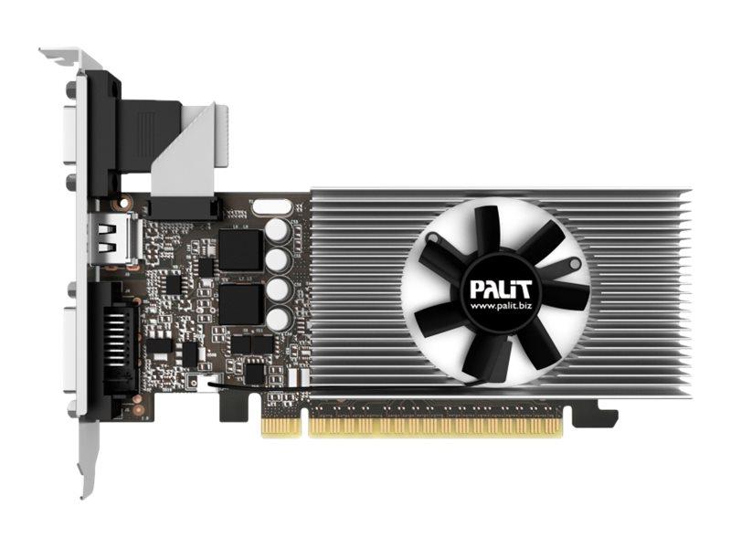 Palit GeForce GT 730 - Grafikkarten - GF GT 730 - 2 GB GDDR5 - PCIe 2.0 x8 - DVI, D-Sub, VGA