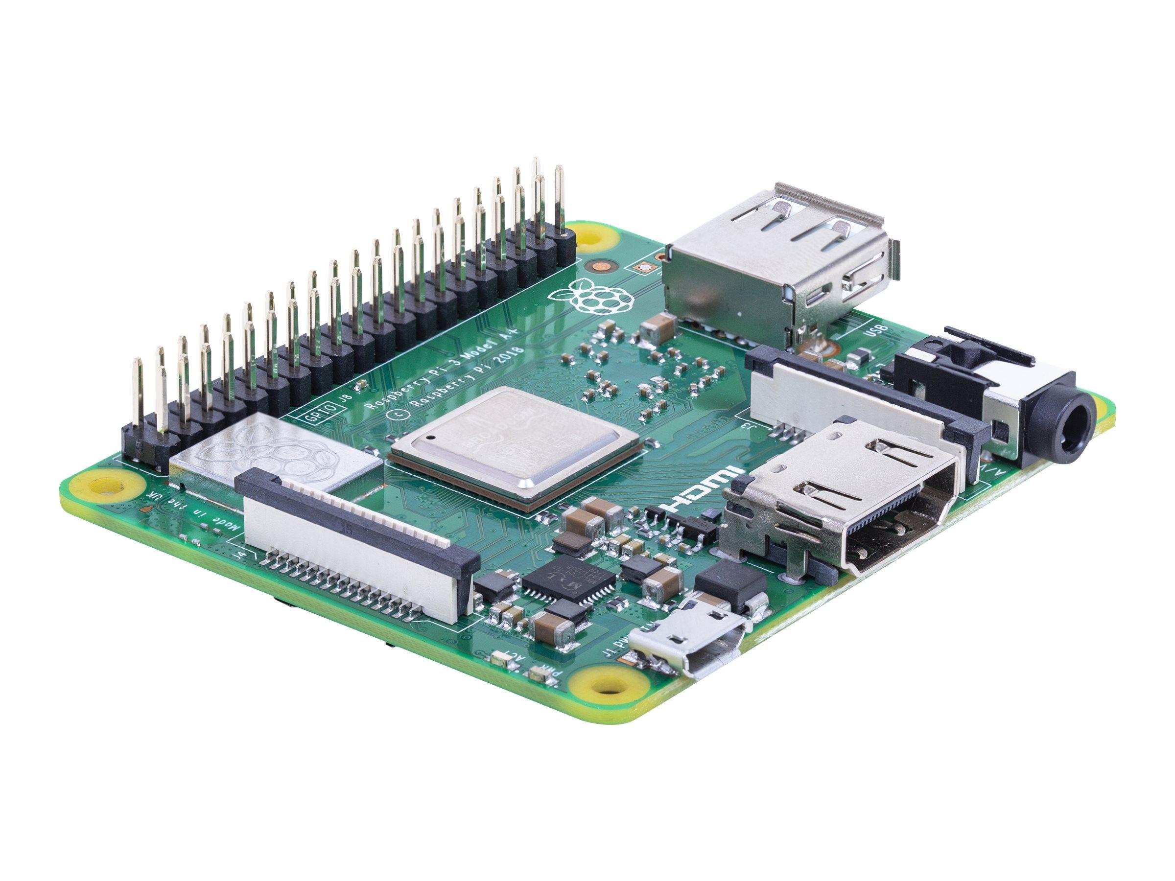 Raspberry Pi 3 Model A+ - Einplatinenrechner - Broadcom BCM2837B0 1.4 GHz - RAM 512 MB - 802.11a/b/g/n/ac, Bluetooth 4.2
