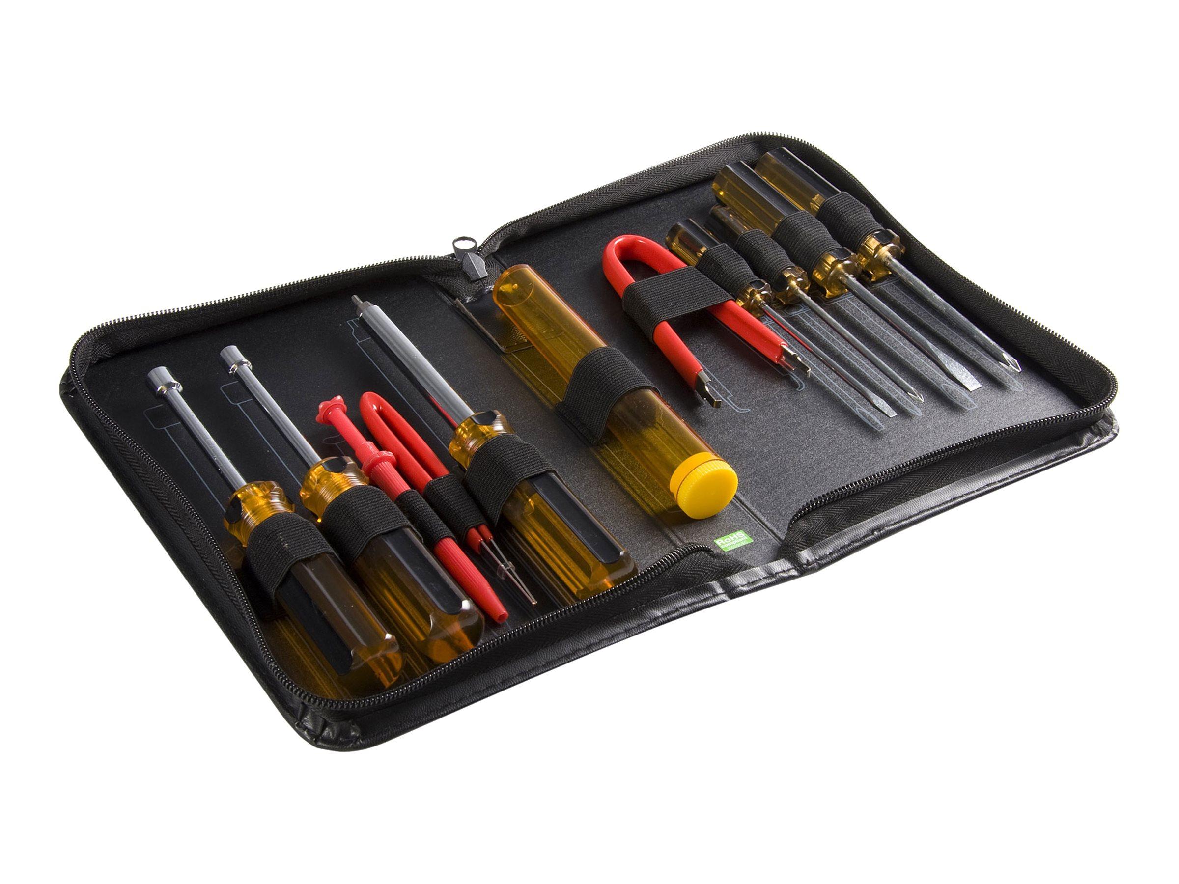 StarTech.com Computer Werkzeugset für die Reparatur von PC / Computer Tool Kit - 11 teiliges Werkzeug Set im Etui - Werkzeugsatz