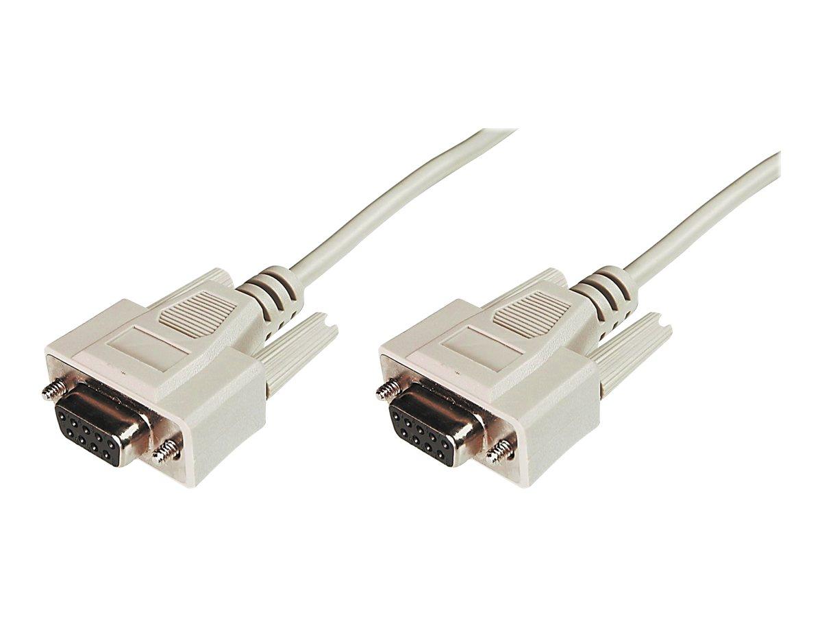 ASSMANN - Kabel seriell - DB-9 (W) bis DB-9 (W) - 2 m - geformt - beige