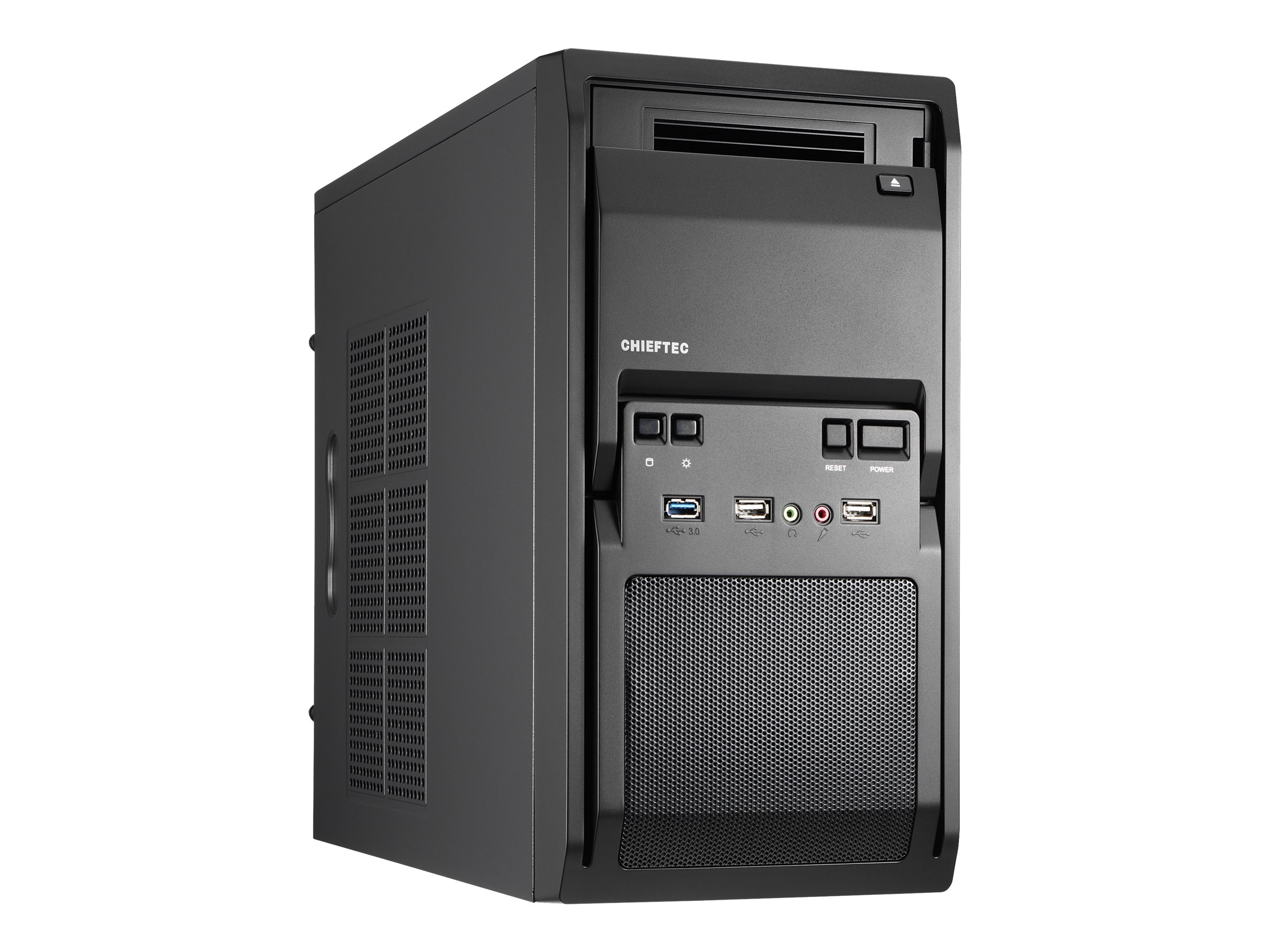 Chieftec LIBRA Series LT-01B - Tower - micro ATX 350 Watt - Schwarz - USB/Audio
