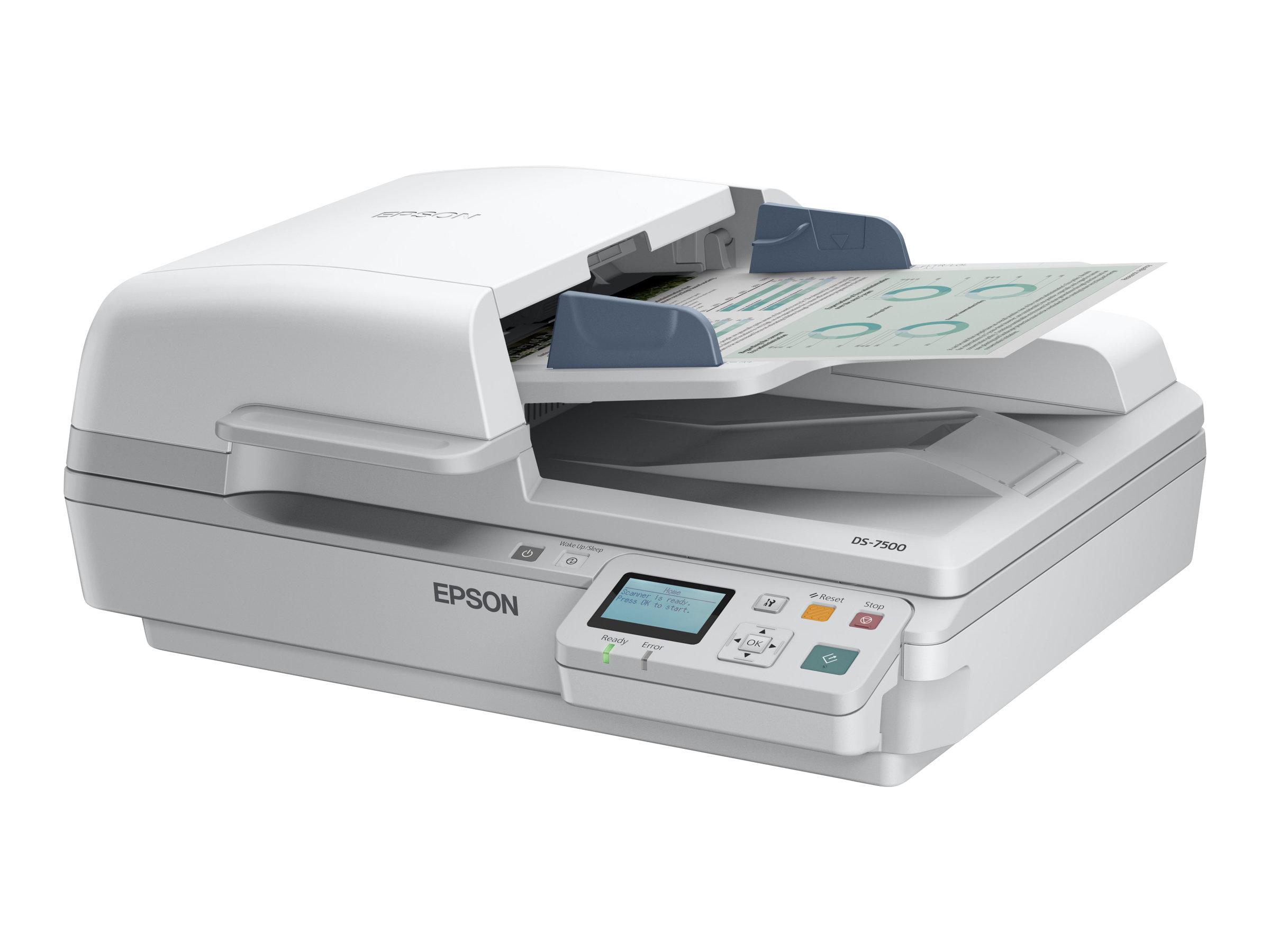 Epson WorkForce DS-6500N - Dokumentenscanner - Duplex - A4 - 1200 dpi x 1200 dpi - bis zu 25 Seiten/Min. (einfarbig) / bis zu 25