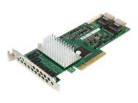 Fujitsu D3116 - Speicher-Controller - 8 Sender/Kanal - SATA 6Gb/s / SAS 6Gb/s - 6 Gbit/s - RAID 0, 1, 5, 6, 10, 50, 60
