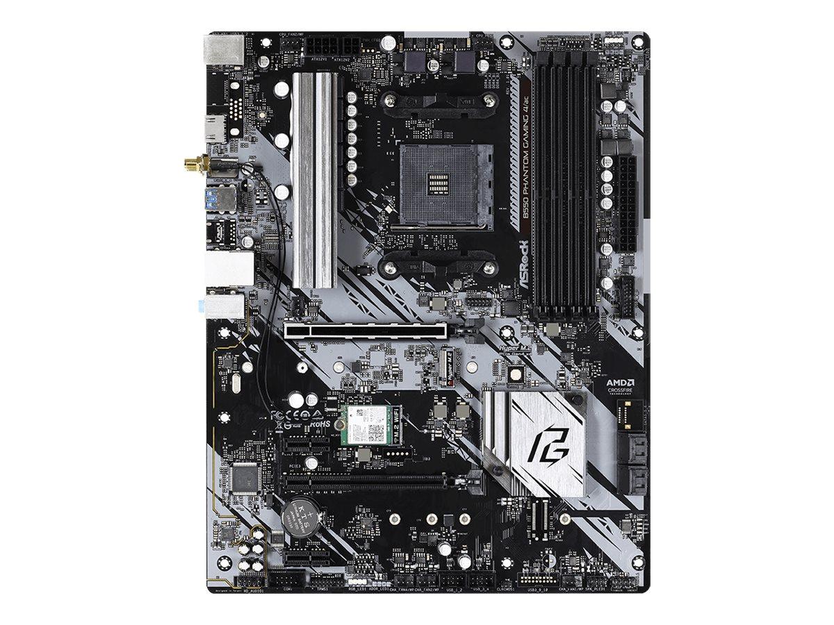 ASRock B550 Phantom Gaming 4/AC - Motherboard - ATX - Socket AM4 - AMD B550 - USB 3.2 Gen 1