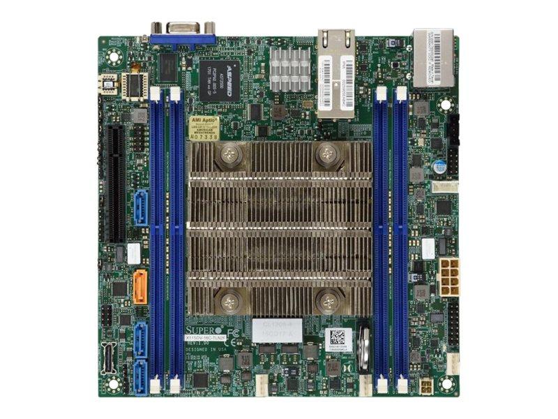SUPERMICRO X11SDV-8C-TLN2F - Motherboard - Mini-ITX - Intel Xeon D-2141I - USB 3.0 - 2 x 10 Gigabit LAN