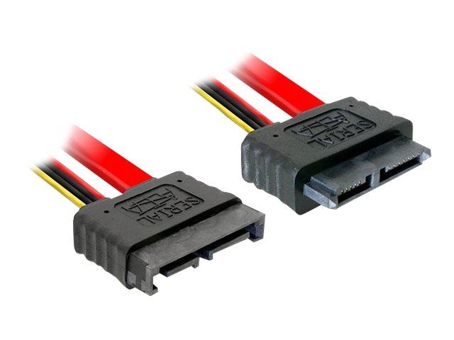 DeLOCK - SATA-Verlängerungskabel - Serial ATA 150/300/600 - Slimline SATA (M) bis Slimline SATA (W) - 1 m