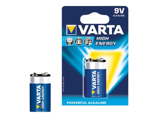Varta High Energy - Batterie 9V - Alkalisch - 550 mAh