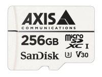 AXIS Surveillance - Flash-Speicherkarte (microSDXC-an-SD-Adapter inbegriffen) - 256 GB - Video Class V30 / UHS Class 3 / Class10