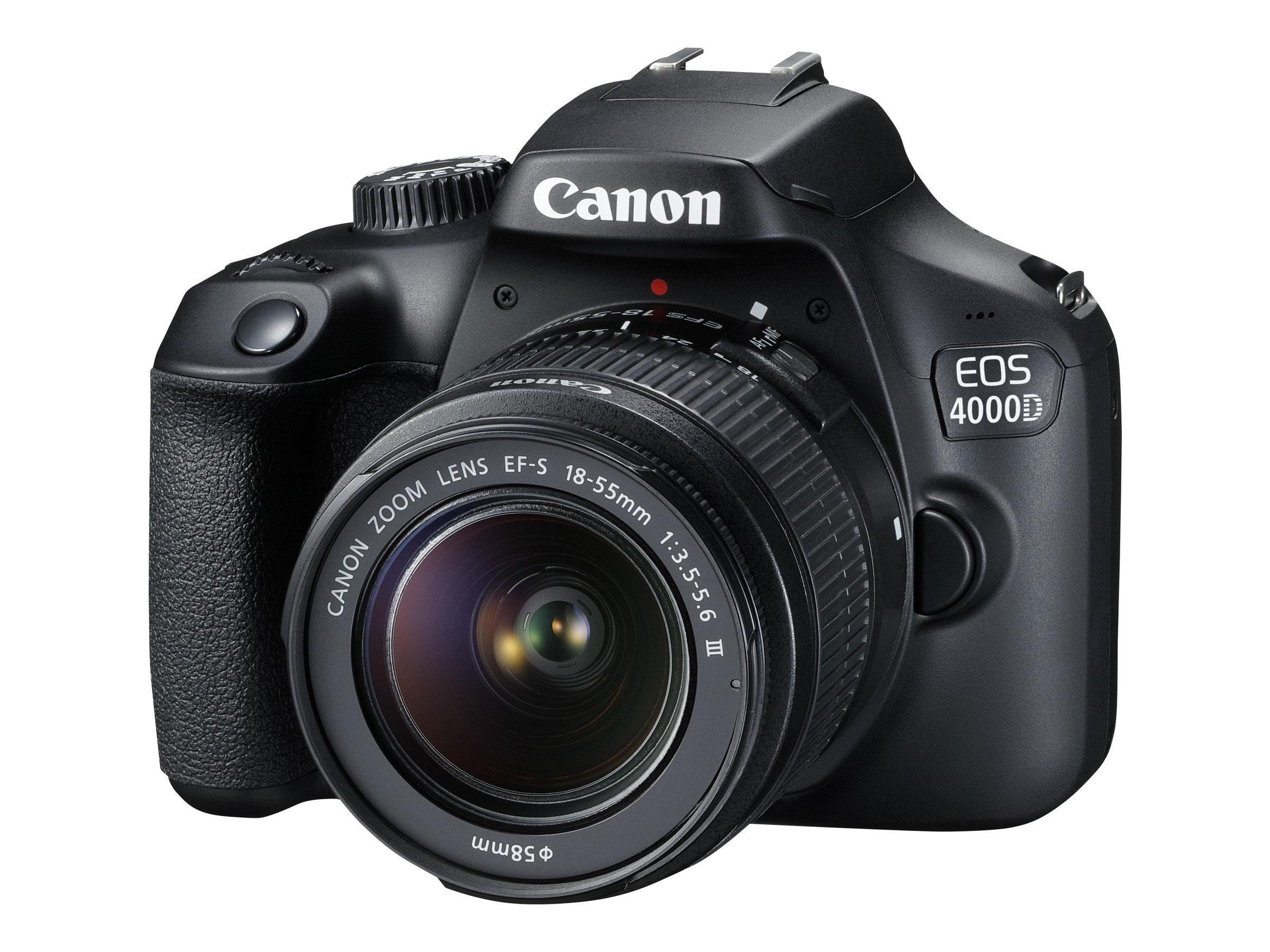 Canon EOS 4000D - Digitalkamera - SLR - 18.0 MPix - APS-C - 1080p / 30 BpS