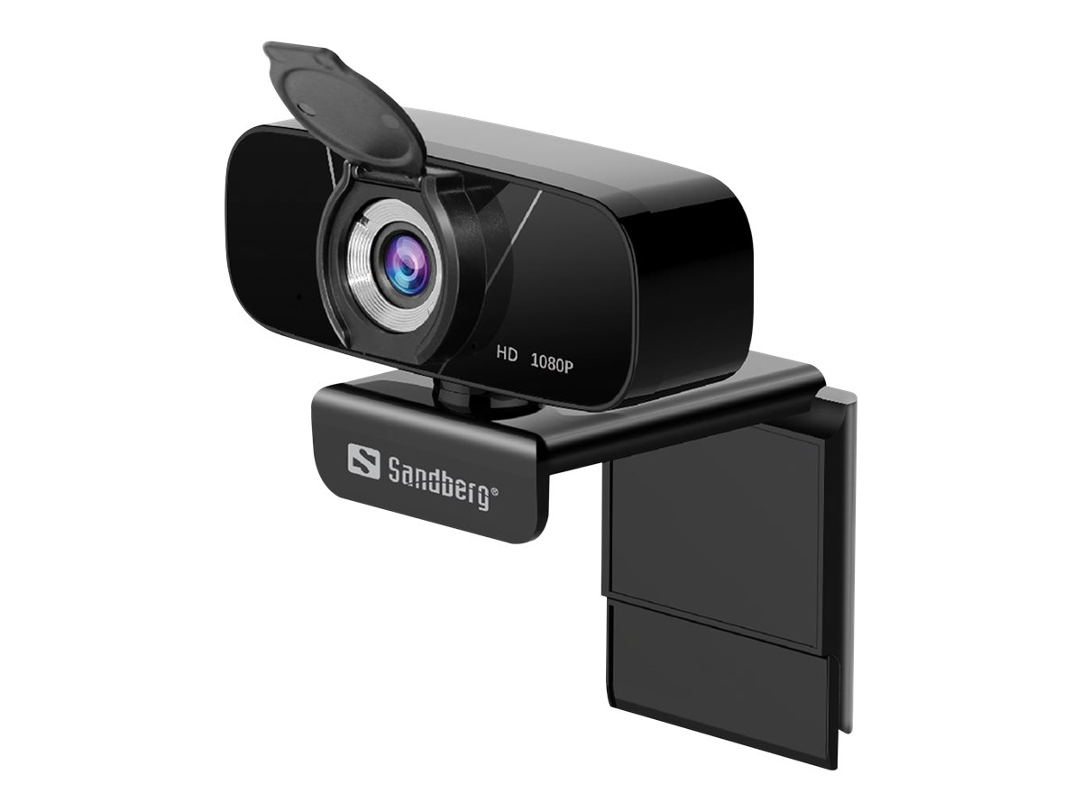 Sandberg USB Chat Webcam 1080P HD - Web-Kamera - Farbe - 2 MP - 1920 x 1080 - 1080p