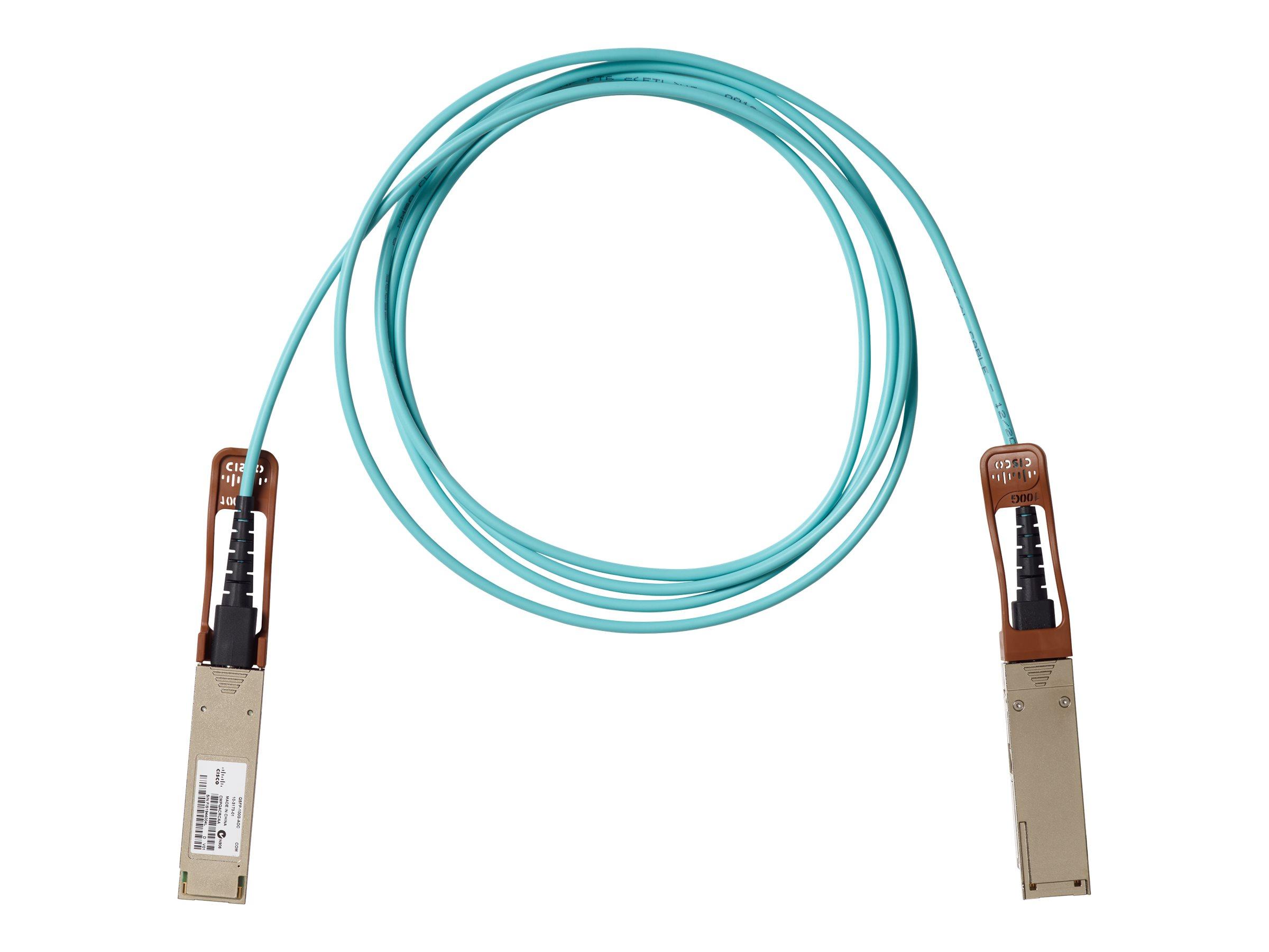 Cisco - 100GBase Direktanschlusskabel - QSFP bis QSFP - 2 m - Glasfaser - aktiv