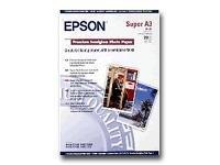 Epson Premium - Halbglänzend - Super A3/B (330 x 483 mm) - 251 g/m² - 20 Blatt Fotopapier - für Expression Photo HD XP-15000; Su