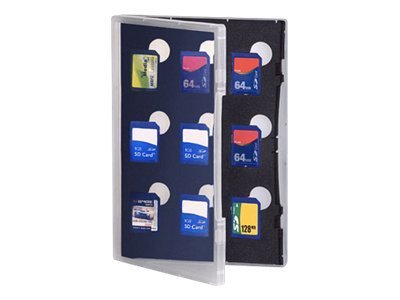 Gepe Card Safe Store - Memory-Etui - Kapazität: 9 SD-Speicherkarte - durchsichtig