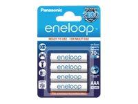 Panasonic eneloop BK-4MCCE - Batterie 4 x AAA-Typ NiMH (wiederaufladbar) 750 mAh
