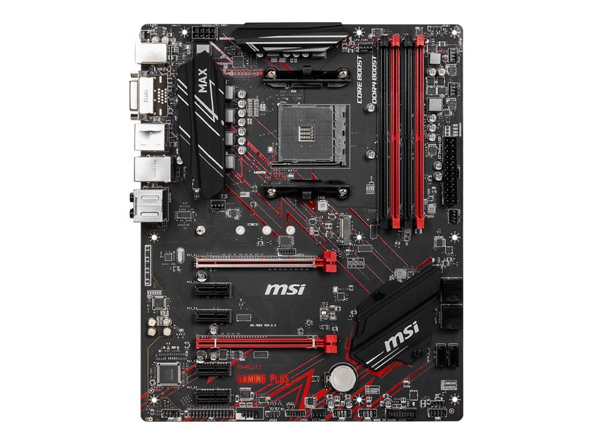 MSI B450 GAMING PLUS MAX - Motherboard - ATX - Socket AM4 - AMD B450 - USB 3.1 Gen 1, USB 3.1 Gen 2