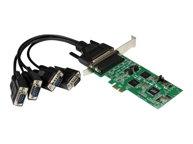 StarTech.com 4 Port Serielle PCI Express Schnittstellenkarte - 2 x RS232 2 x RS422 / RS485 - PCIe Adapter Karte mit Breakout Kab