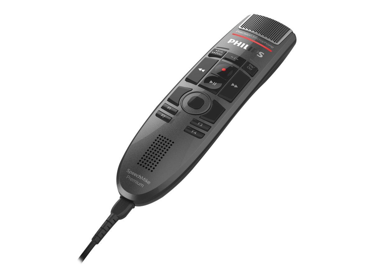 Philips SpeechMike Premium Touch SMP3720 - SMP3700 Series - Lautsprechermikrofon - USB - dunkelgrau perlfarben metallisch