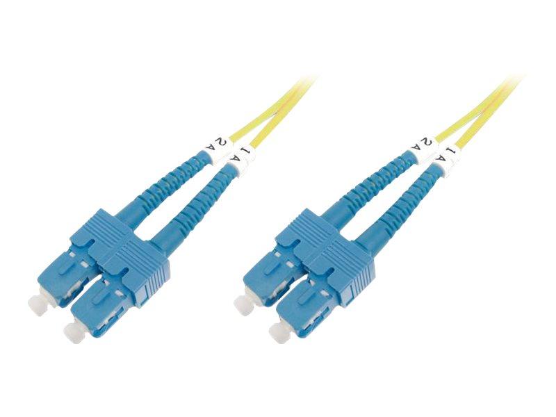 DIGITUS Professional - Patch-Kabel - SC/APC Einzelmodus (M) bis SC/APC Einzelmodus (M) - 1 m - Glasfaser - 9/125 Mikrometer