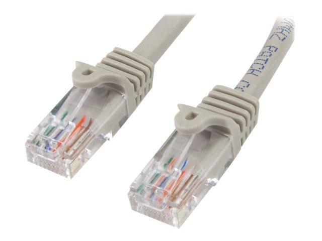 StarTech.com Cat5e Patchkabel mit Snagless RJ45 Anschluss - Netzwerkkabel 5m - Grau - Patch-Kabel - RJ-45 (M) bis RJ-45 (M) - 5