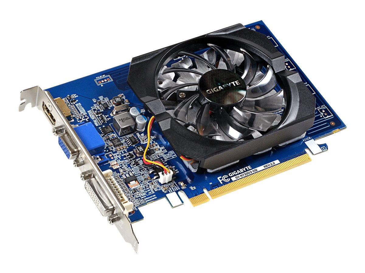 Gigabyte GV-N730D3-2GI (rev. 2.0) - Grafikkarten - GF GT 730 - 2 GB DDR3 - PCIe 2.0 x8 - DVI, D-Sub, HDMI
