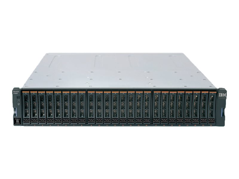 Lenovo Storwize V3700 SFF Dual Control Enclosure - Festplatten-Array - 24 Schächte (SAS-2) x 0 - SAS 6Gb/s, iSCSI (1 GbE) (exter