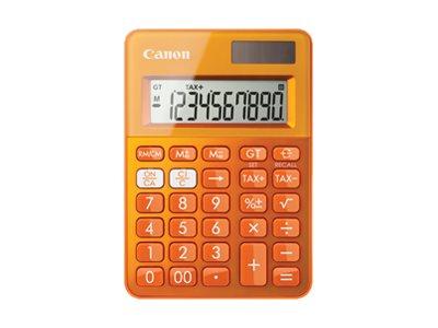 Canon LS-100K - Desktop-Taschenrechner - 10 Stellen - Solarpanel, Batterie - Orange Metallic