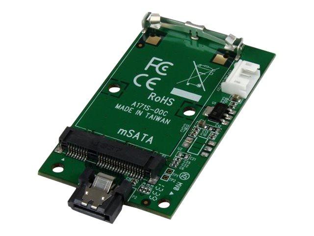 StarTech.com SATA auf mSATA Adapter - 7-pin SATA zu Mini SATA Konverter Karte / Adapterkarte - Speicher-Controller - mSATA - SAT