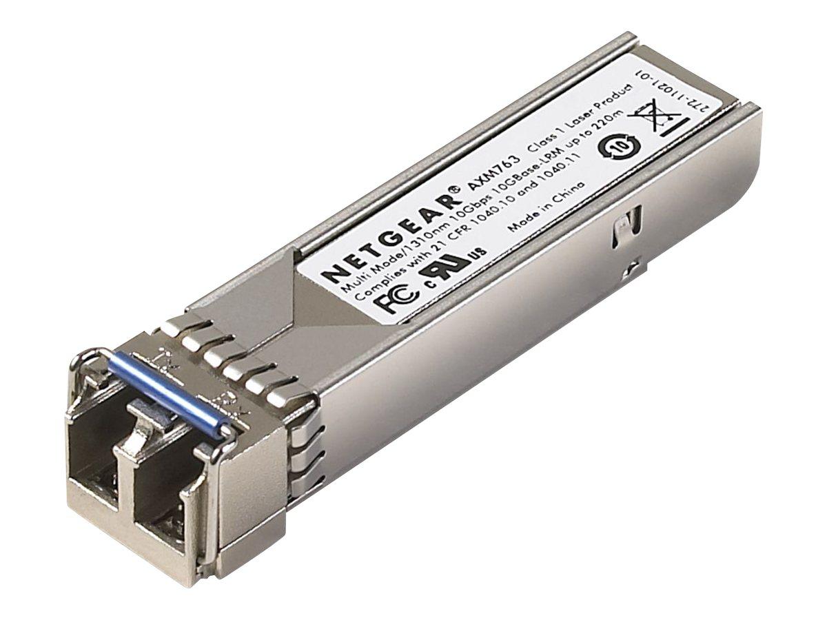 NETGEAR ProSafe AXM763 - SFP+-Transceiver-Modul - 10 GigE - 10GBase-LRM - LC Multi-Mode - bis zu 260 m