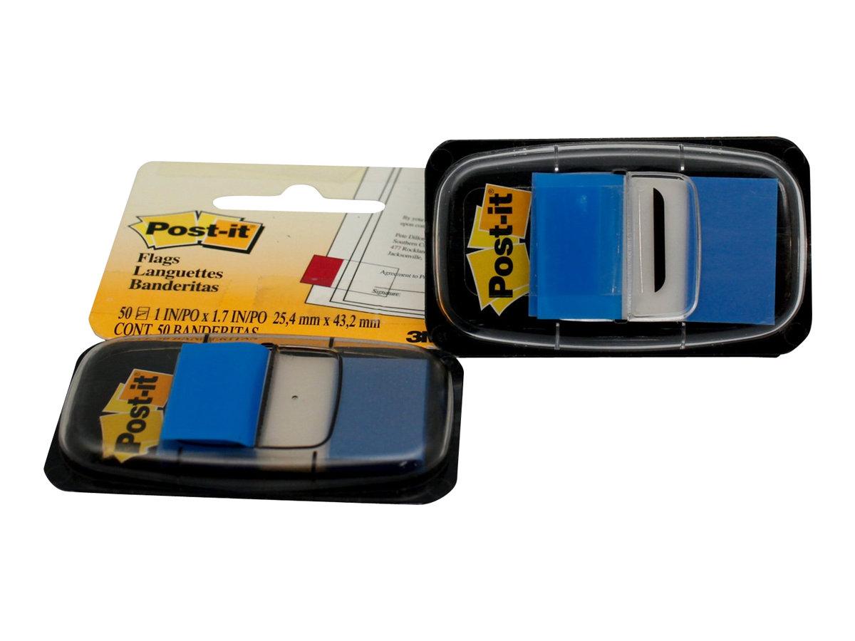 Post-it Index 680-2 - Index-Streifen mit Spender - 25.4 x 43.1 mm - 50 Blatt - Blau