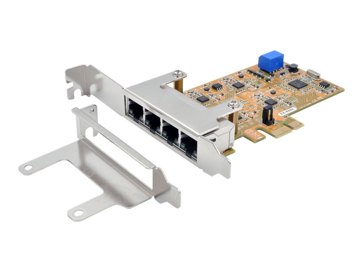 Exsys EX-6084 - Netzwerkadapter - PCIe - Gigabit Ethernet x 4