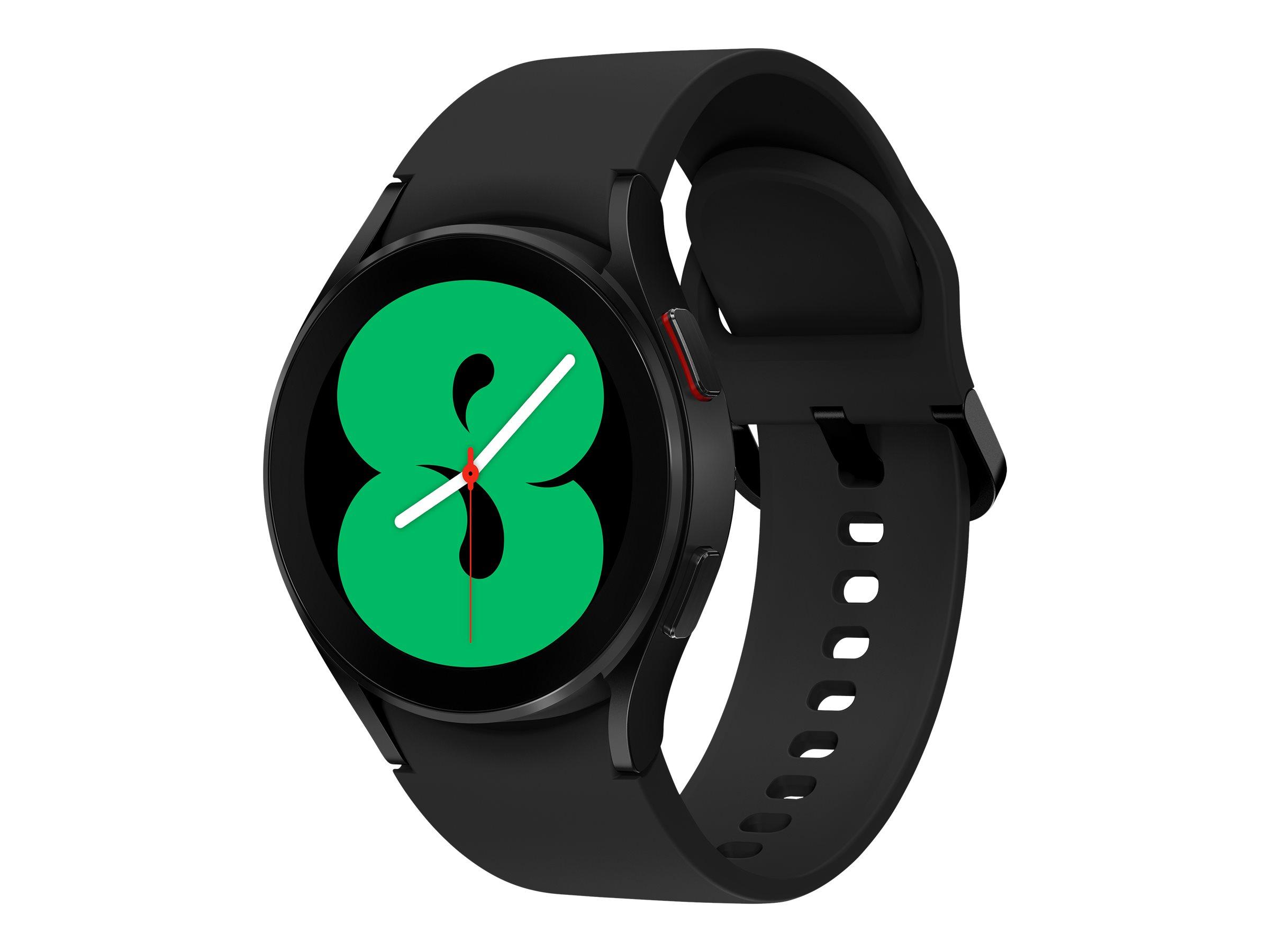Samsung Galaxy Watch4 - 40 mm - schwarz - intelligente Uhr mit Sportband - schwarz - Anzeige 3.04 cm (1.19