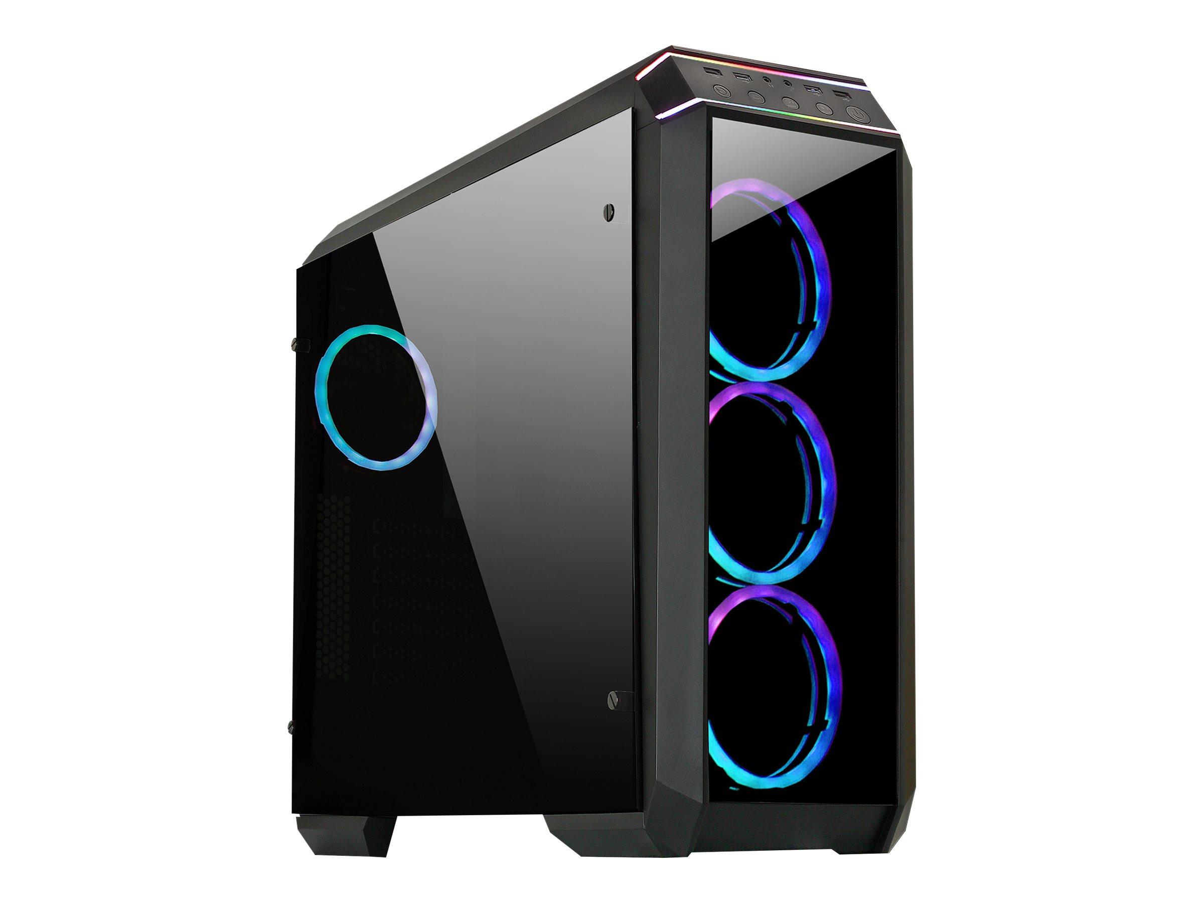 Chieftec Gamer Series STALLION II - Tower - ATX - ohne Netzteil (ATX) - Schwarz - USB/Audio