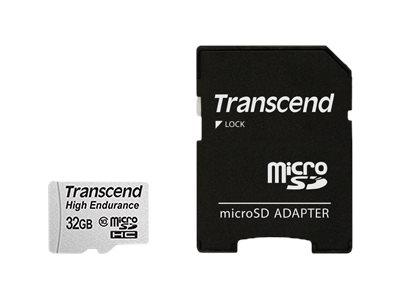 Transcend Hochbelastbare - Flash-Speicherkarte (microSDHC/SD-Adapter inbegriffen) - 32 GB - UHS-I U1 / Class10 - SDHC