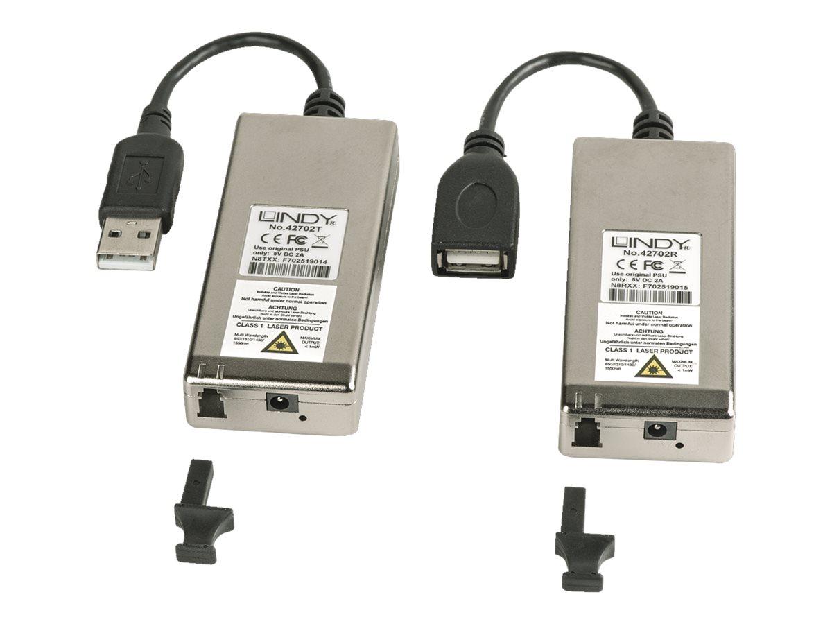 LINDY USB 2.0 MM LWL/Fibre Optic Extender - USB-Erweiterung - bis zu 200 m