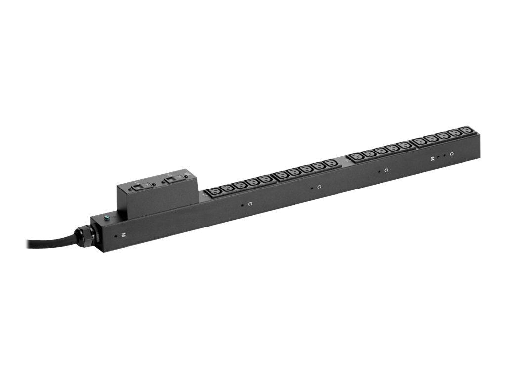 HPE Basic PDU Half Heigt - Stromverteilungseinheit (Rack - einbaufähig) - Wechselstrom 200-240 V - 3680 VA - Eingabe, Eingang IE
