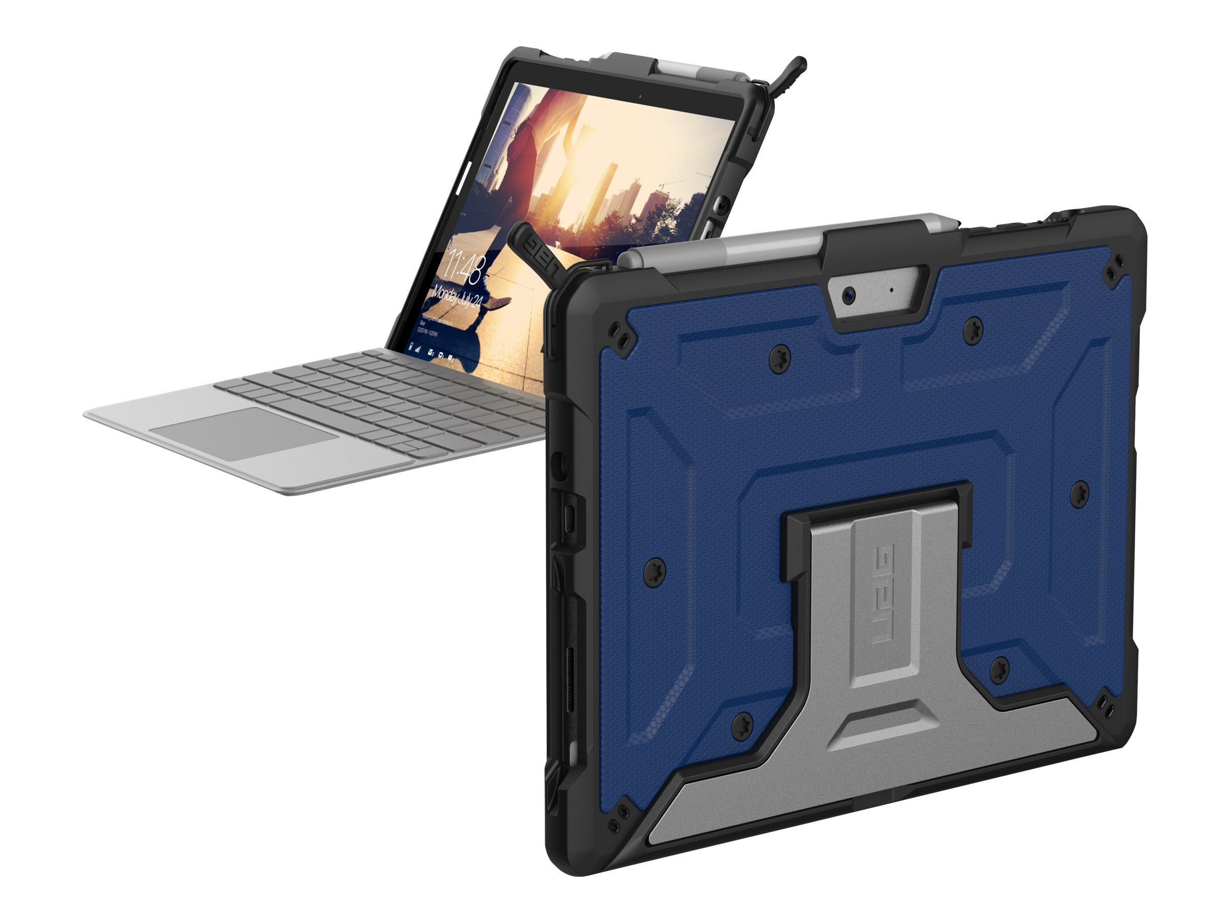 UAG Rugged Case for Microsoft Surface Go / Surface Go 2 - Metropolis Cobalt - Hintere Abdeckung für Tablet - widerstandsfähig -