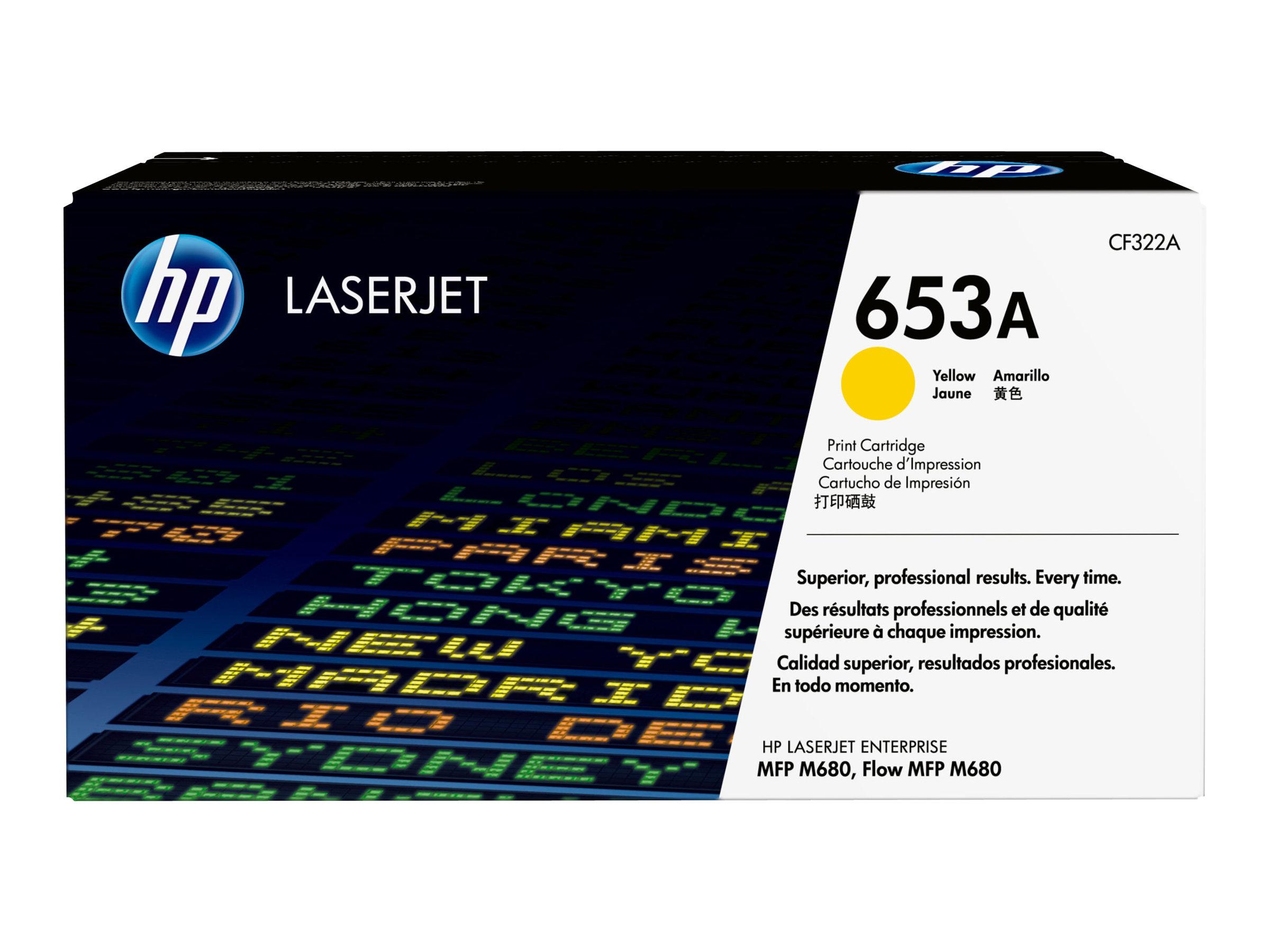 HP 653A - Gelb - Original - LaserJet - Tonerpatrone (CF322A) - für LaserJet Enterprise MFP M680dn, MFP M680f; LaserJet Enterpris