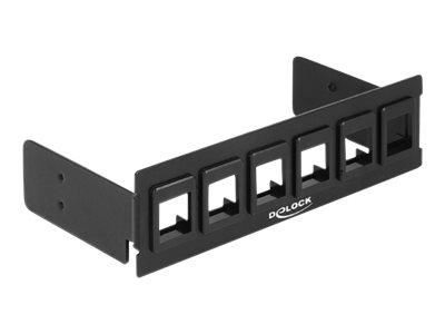DeLOCK - Blindabdeckung - Schwarz - 6 Ports