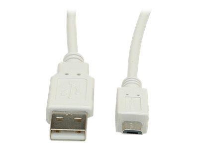 VALUE - USB-Kabel - USB (M) bis Micro-USB Typ B (M) - USB 2.0 - 1.8 m - weiss