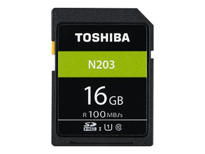 Toshiba High Speed N203 - Flash-Speicherkarte - 16 GB - UHS-I U1 / Class10 - microSDHC - Schwarz