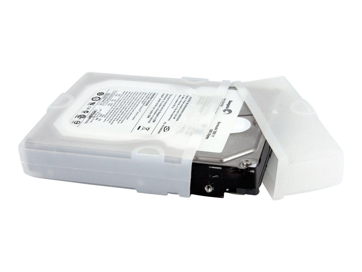 StarTech.com 3,5 Zoll Silikon Festplattenschutzhülle - 8,9cm HDD Schutzhülle - Transparent - Festplattenschutzhülle - klar