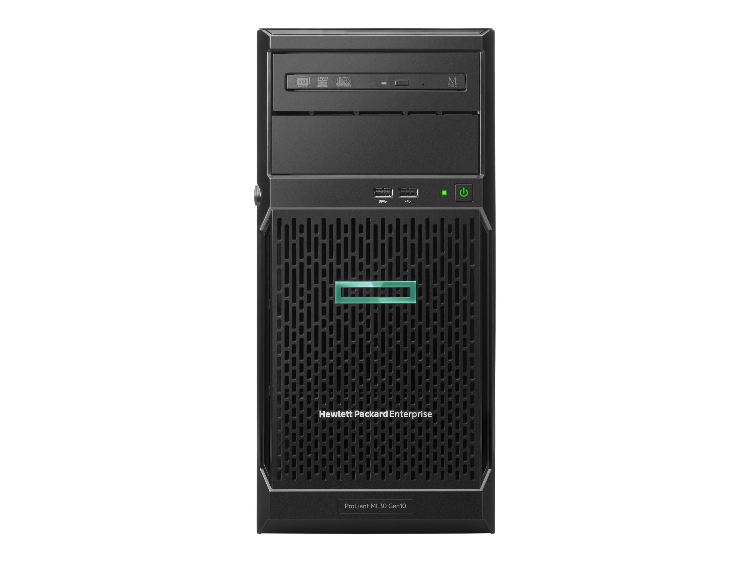 HPE ProLiant ML30 Gen10 Solution - Server - Tower - 4U - 1-Weg - 1 x Xeon E-2134 / 3.5 GHz