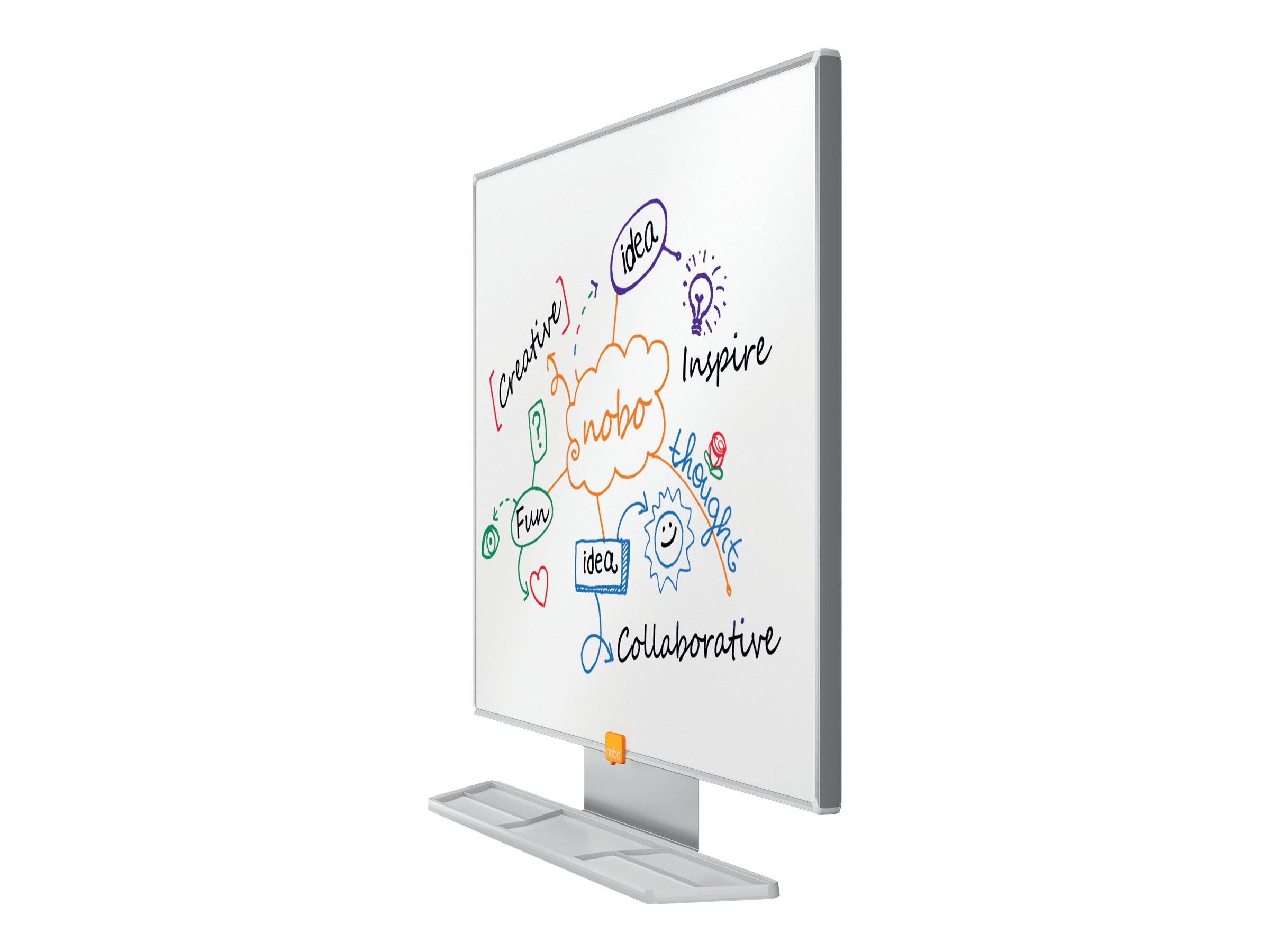 Nobo Prestige - Whiteboard - geeignet für Wandmontage - 600 x 450 mm - Glasur - magnetisch