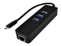 Exsys Ex 1133-N - Hub - 3 x USB 3.1 Gen 1 + 1 x 1000Base-T - Desktop