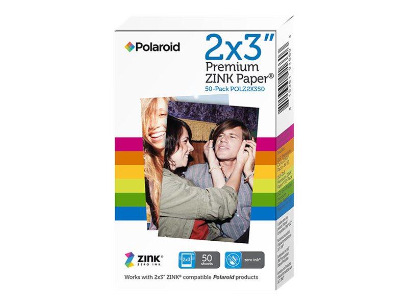 Polaroid Premium ZINK Paper - Selbstklebend - 50.8 x 76.2 mm 50 Blatt Fotopapier - für Polaroid Snap Instant, Snap Touch, Z2300;